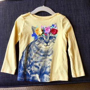 Gap kids cat 🐱 t-shirt